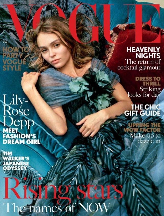Lily Rose Depp na okładce Vogue UK