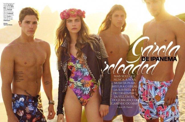 Cara Delevingne w listopadowym wydaniu Vogue Brasil