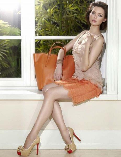 Edyta Zając w kampanii Deni Cler na sezon wiosna lato 2012