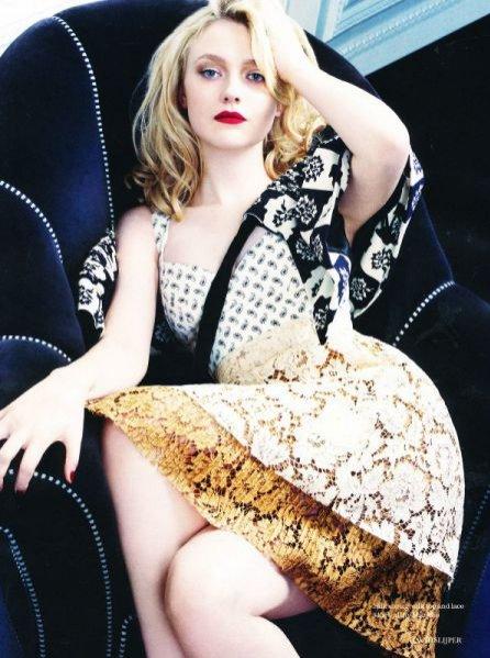 Dakota Fanning w sesji Elle UK Luty 2012