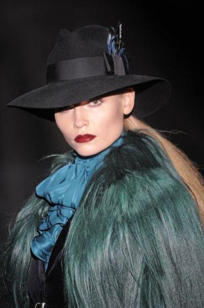 Natasha Poly na pokazie Gucci AW 2011/12
