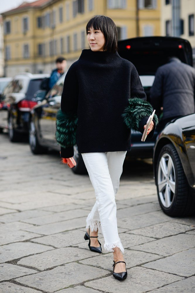 Eva Chen w czarnym swetrze