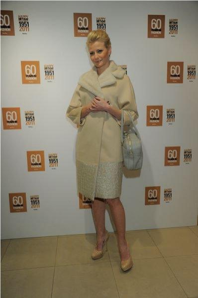 Małgorzata Kożuchowska na uroczystym bankiecie z okazji 10. rocznicy otwarcia salonu Max Mara