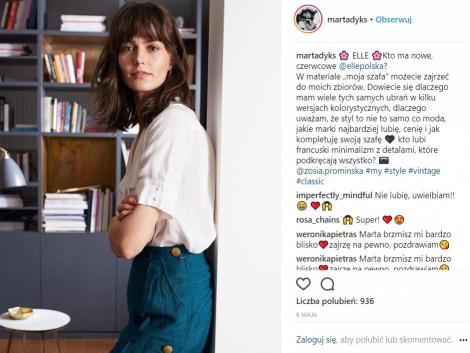 Marta Dyks: Instagram