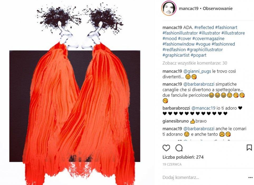 Ilustratorzy mody na Instagramie: @mancac19