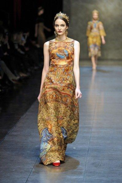 Zuzanna Bijoch w pokazie Dolce & Gabbana jesień zima 2013/14