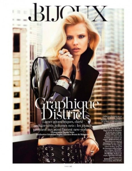 Magdalena Frąckowiak w sesji dla lutowego Vogue Paris