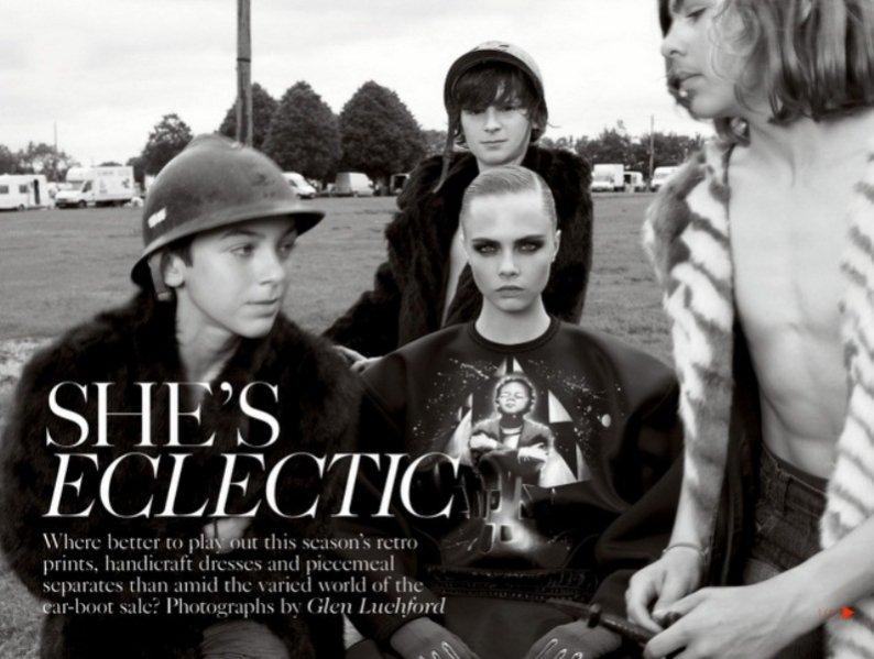 Cara Delevingne w sesji dla listopadowego Vogue UK