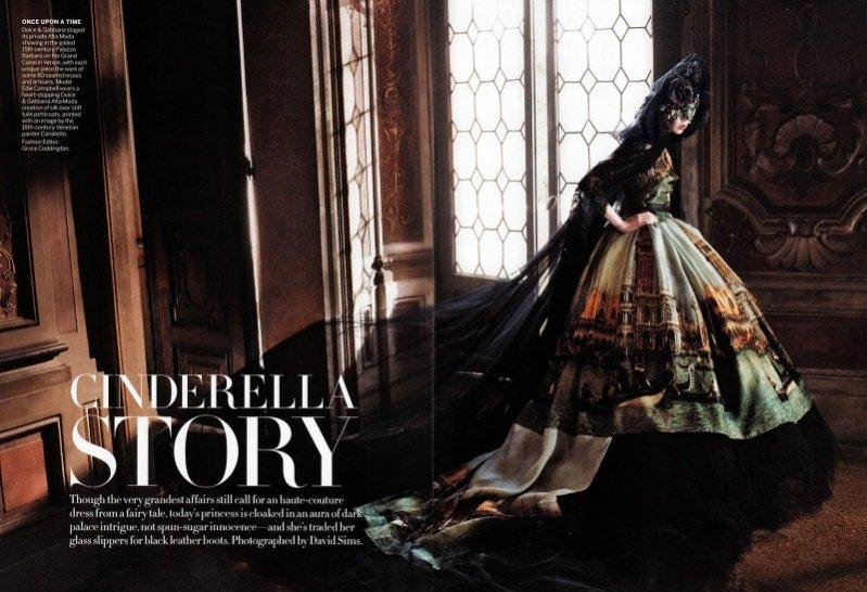 Cinderella Story - Edie Campbell dla wrześniowego Vogue US