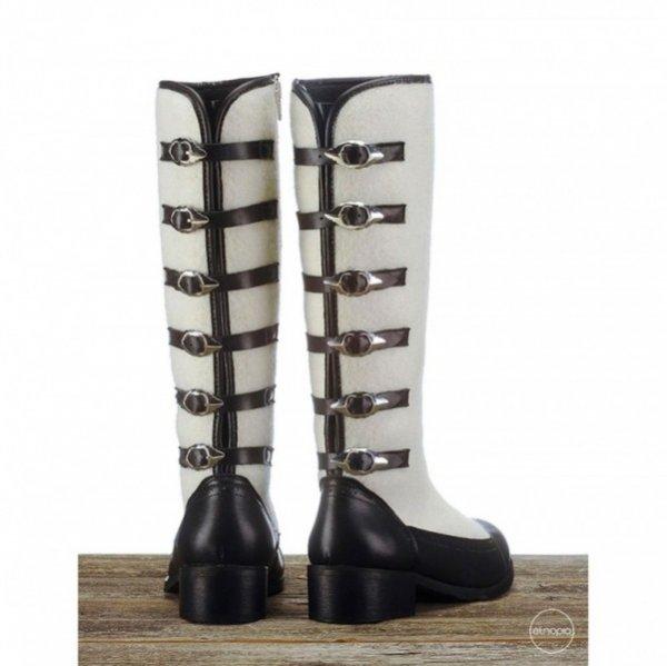 Etnopia, buty stylizowane na kapce góralskie, kolekcja zima 2012/2013