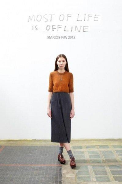 Lookbook kolekcji MARIOS jesień zima 2012
