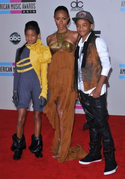 Willow Smith, Jada Pinkett Smith,  Jaden Smith