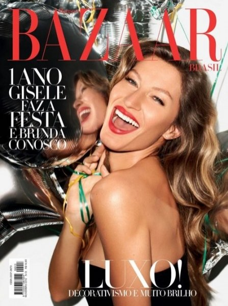 Gisele Bündchen w jubileuszowym wydaniu Harper's Bazaar Brazil