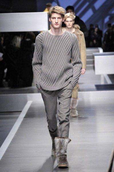 trendy jesień zima 2013/2014 w modzie męskiej - Fendi