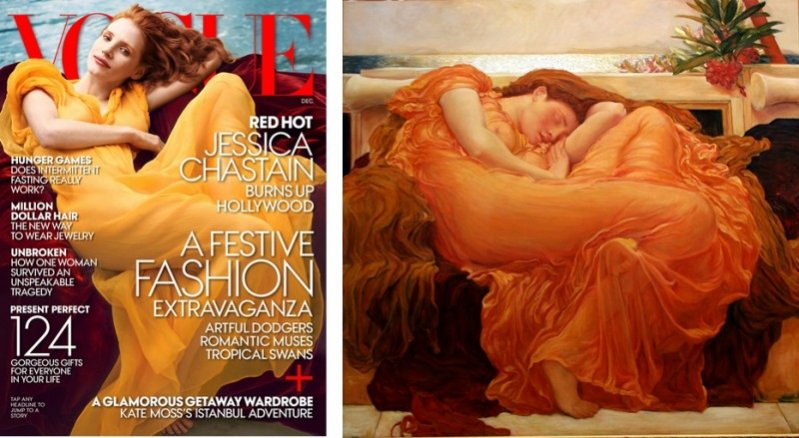 Jessica Chaistain dla Vogue US i
