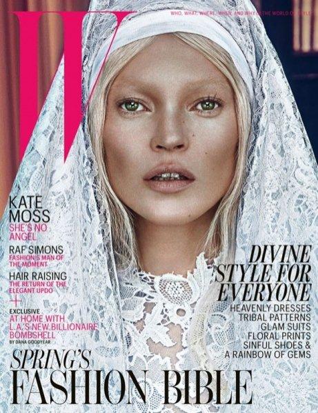 Kate Moss w sesji dla marcowego wydania magazynu W