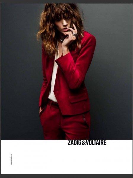 Freja Beha Erichsen - kampania Zadig & Voltaire jesień zima 2013/2014