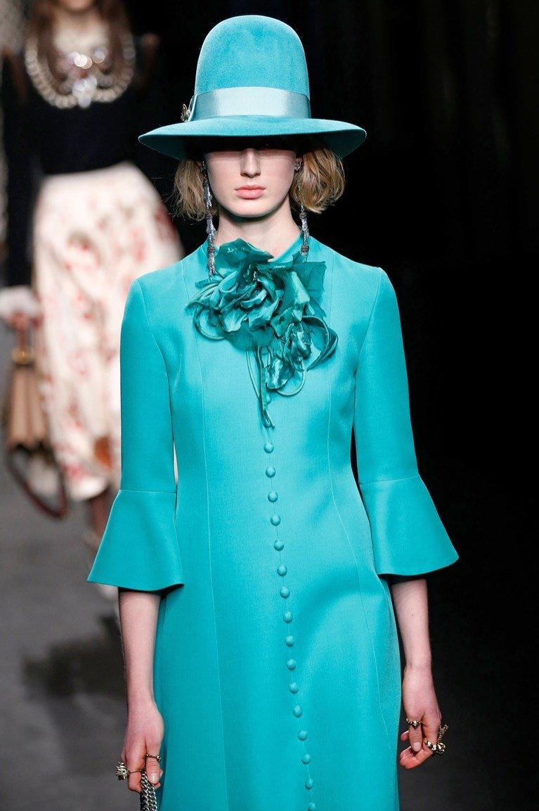 Niebieski look Gucci