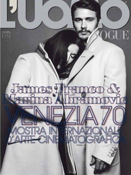 James Franco i Marina Abramovic we wrześniowym L'Uomo Vogue