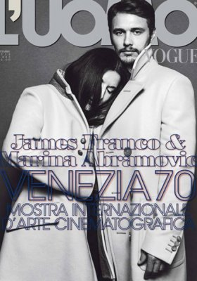 JAMES FRANCO I MARINA ABRAMOVIC WE WRZEŚNIOWYM L'UOMO VOGUE