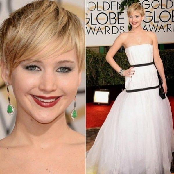 1. Jennifer Lawrence (Dior) Złote Globy 2014