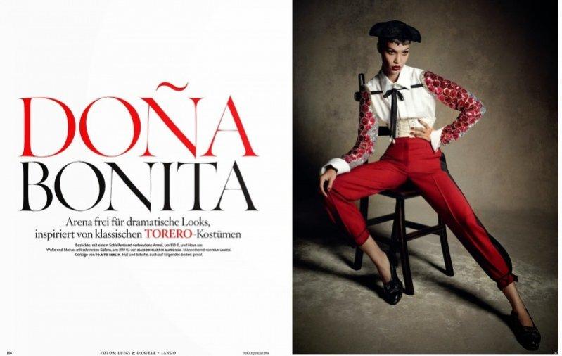 1. Joan Smalls w niemieckim wydaniu magazynu Vogue