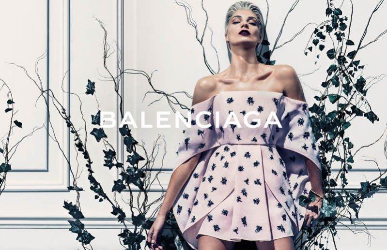 1. Daria Werbowy w kampanii Balenciaga wiosna lato 2014