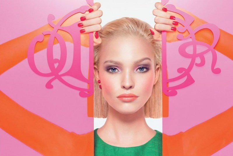 1. Sasha Luss w kampanii kolekcji makijażu domu mody Dior - Kingdom of Colors