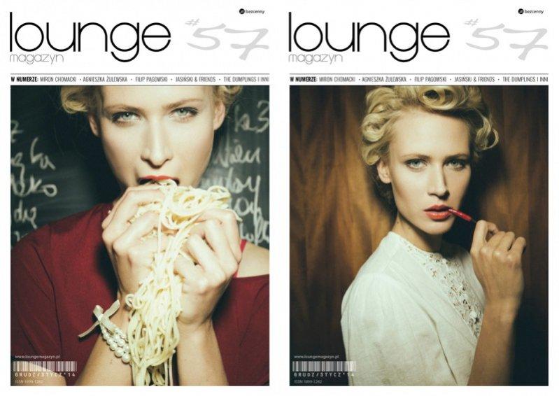 Dwie okładki nowego numeru Lounge Magazyn z Agnieszką Żulewską