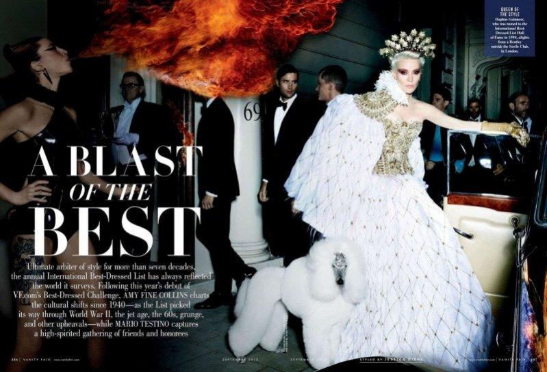 """A Blast of the Best"" – sesja Mario Testino dla Vanity Fair"
