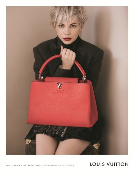 Michelle Williams w kampanii torebek Louis Vuitton