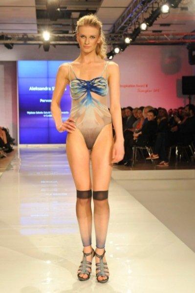 Ania Piszczałka podczas pokazu Triumph Inspiration Awards 2012