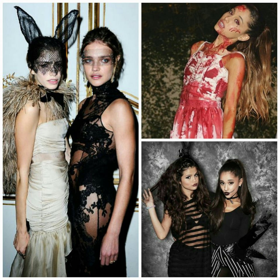 Stylizacje na Halloween: Natalia Vodianova vs Selena Gomez vs Ariana Grande