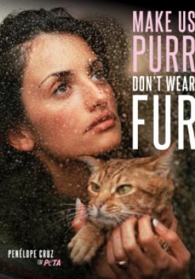 PENELOPE CRUZ X PETA - STOP FUTROM W MODZIE