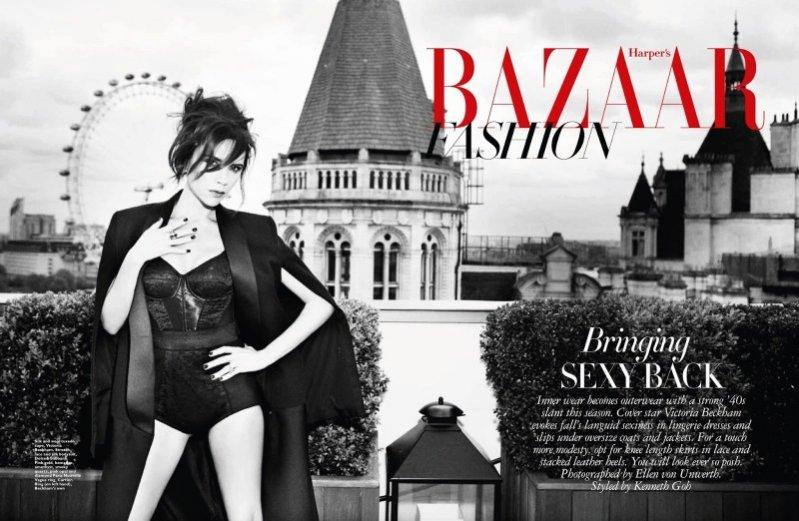 Victoria Beckham dla wrześniowego Harper's Bazaar Singapore