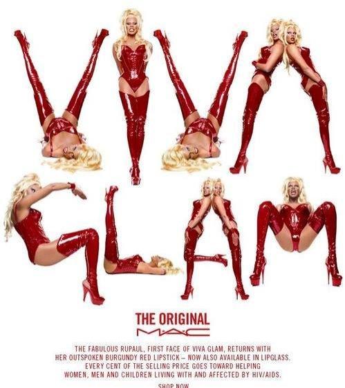 RuPaul - pierwsza kampania Viva Glam