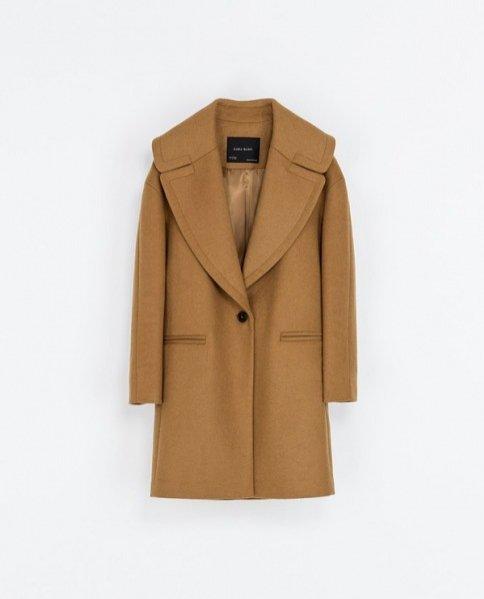 Oversize'owy płaszcz, Zara 499PLN
