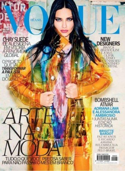 1. Adriana Lima na okładce Vogue Brasil