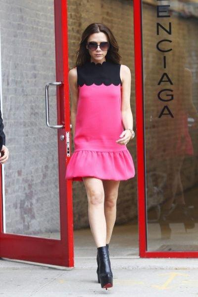 Victoria Beckham podczas New York Fashion Week wiosna lato 2012