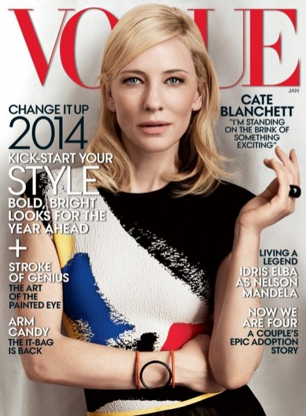 1. Cate Blanchet w okładkowej sesji dla Vogue US styczeń 2014