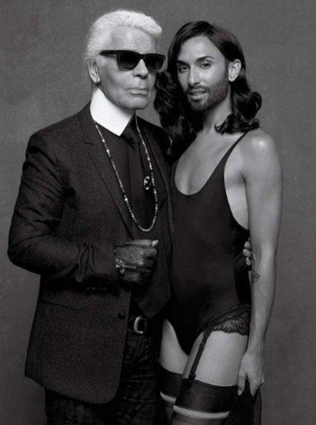 1. Conchita Wurst & Karl Lagerfeld, CR Fashion Book