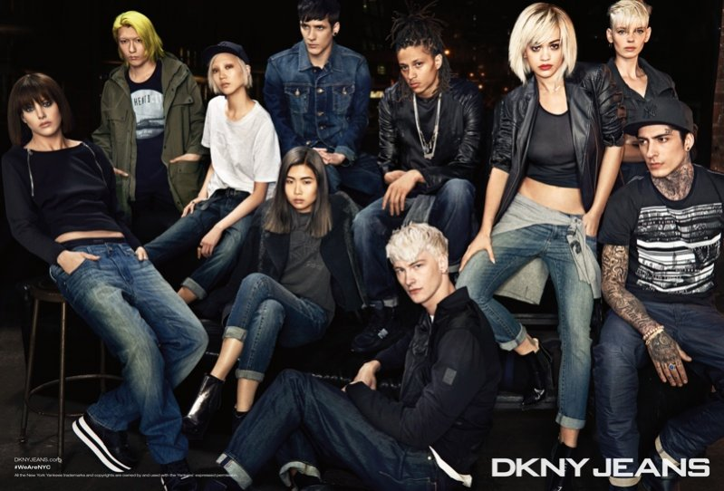 1. RITA ORA W KAMPANII DKNY JESIEŃ ZIMA 2014/2015