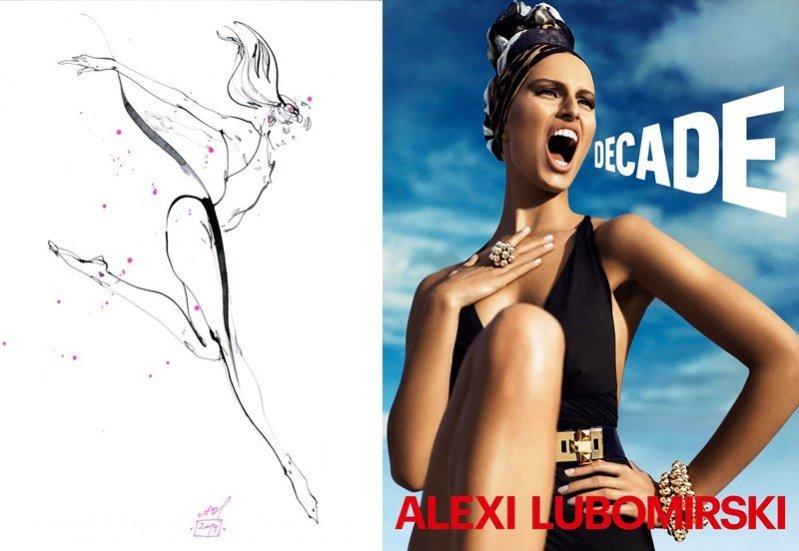 1. Nagrody w konkursie - ilustracja autorstwa Anny Halarewicz oraz album DECADE ze zdjęciami Alexiego Lubomirskiego podpisany przez fotografa