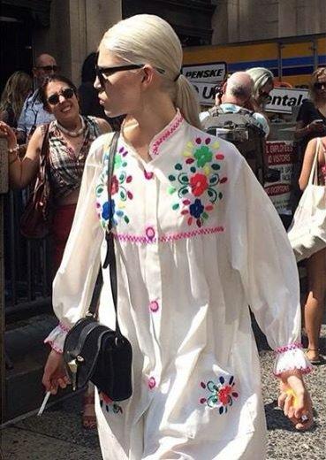 1. Moda uliczna, Ola Rudnicka w czasie NYFW