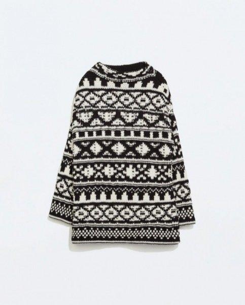 1. Przegląd swetrów we wzory - Zara 199PLN