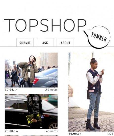 1. TOPSHOP, Tumblr