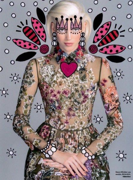1. Devon Windsor w edytorialu dla Vogue Brasil