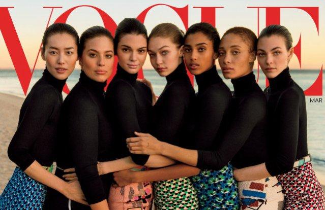 Okładka amerykańskiego Vogue'a z Ashley Graham na okładce; marzec 2017