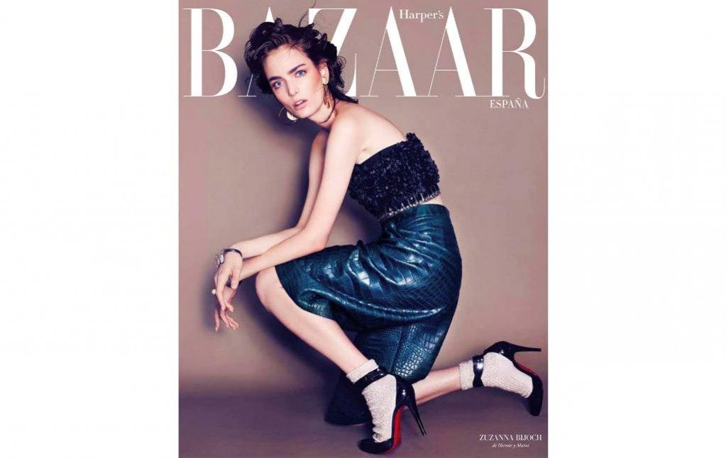 1. Zuza Bijoch na okładce Harpers Bazaar Espana w obiektywie Marcina Tyszki