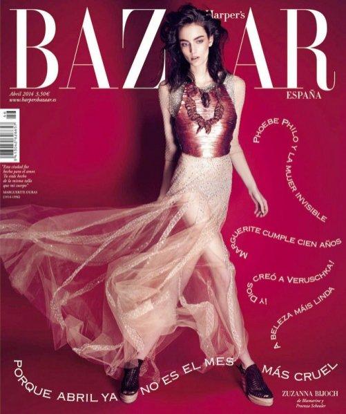 1. Zuzanna Bijoch w obiektywie Marcina Tyszki dla Harper's Bazaar Spain April 2014